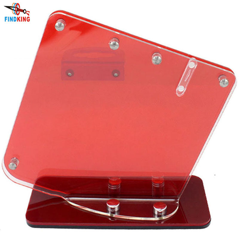 Transparent Red Acrylic Ceramic Knife Stand Block Kitchen Knives Holder Stands For 3'' 4'' 5'' 6'' Knives With One Peeler