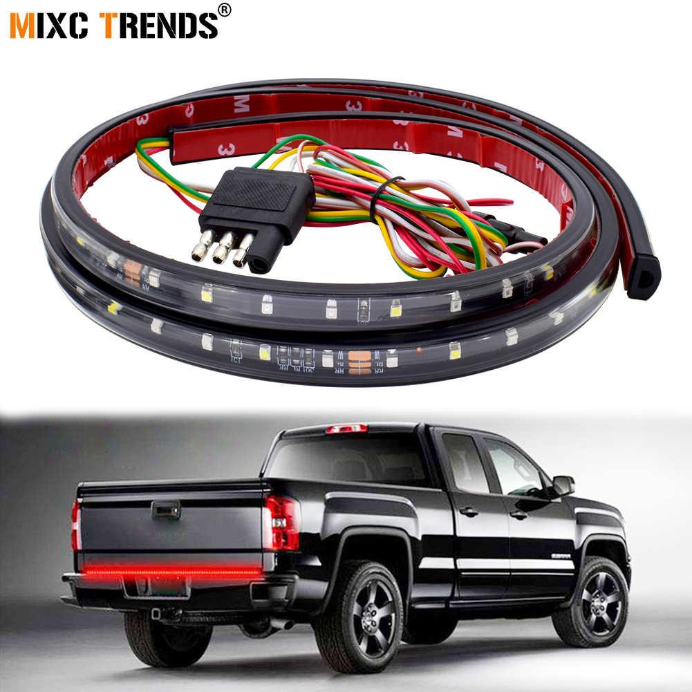 60 Inch 90LEDs Tailgate LED Strip Pickup Tail Light Bar DRL Turn Signal  Brake Reverse Lamp for Suv Truck Trailer Jeep Dodge Ram