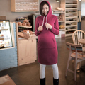 2015 Autumn winter Maternity clothing clothes for pregnant women Casual maternity dresses pregnancy knee length dress M307