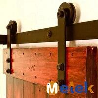 4.9FT/6FT/6.6FT Cast iron sliding barn door hardware
