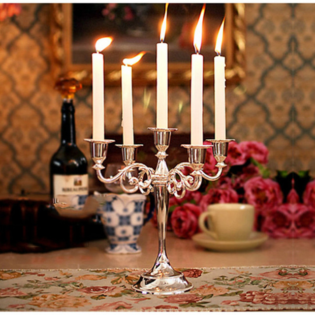 10pcs candlelight dinner long candle romantic valentine dining table wedding decorative candles home decor party supplies - Candles Home Decor