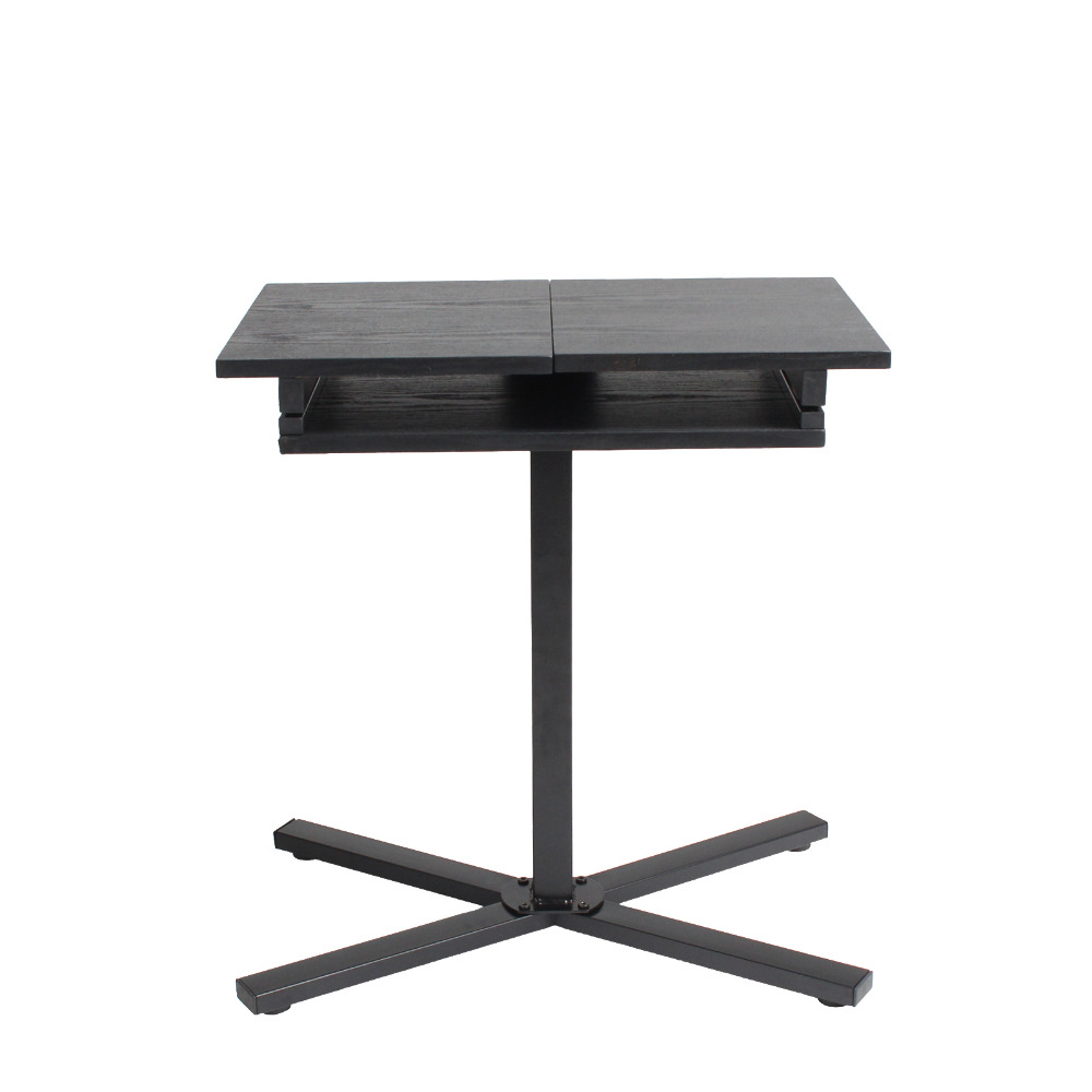 Aingoo Black Laptop Stand Table School Furniture Study Desk Foldable Top For Reading Ipad Standing Laptop Adjustable Office Desk