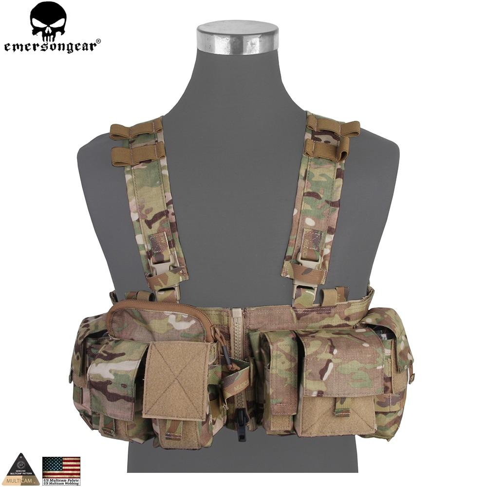 EMERSONGEAR UW Gen V Split Front Chest Rig Body Armor Airsoft Paintball Combat Molle Vest Tactical