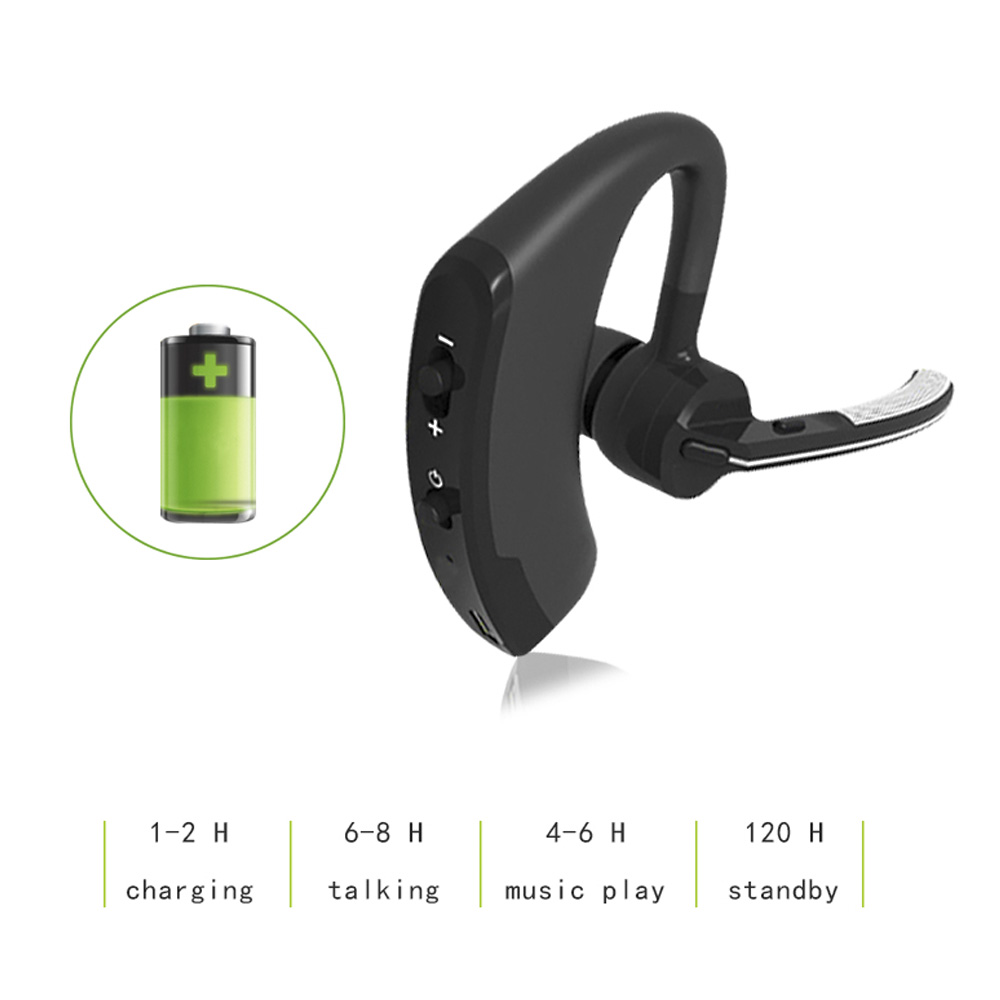 Bluetooth Headset Wireless Earphones V4.1 Ear Hook Voice Control Support 2 Cell Phones at one Time With  For Iphone 7 6S 6 5S  auricular para solo un oido png