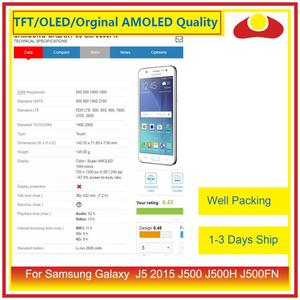"Image 2 - ORIGINAL 5.0"" For Samsung Galaxy J5 2015 J500 J500H J500FN J500F LCD Display With Touch Screen Digitizer Panel Pantalla Complete"