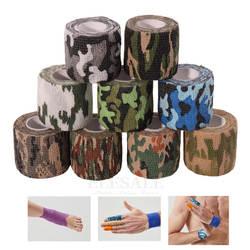 1 шт. 2,5 см-15 см Ширина самоклеющиеся камуфляж нетканые эластичные бинты клейкая лента для спорта аварийного лечения ран