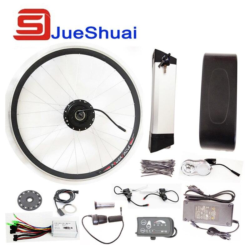 Easy Install Kettle Battery e bike conversion kit Front Wheel Motor 250W/350W/500W power Optional JSE-091
