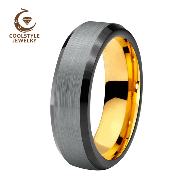 8mm Black Silver Brushed Matte Tungsten Carbide Ring Men Women Rose Gold Wedding Band Comfort