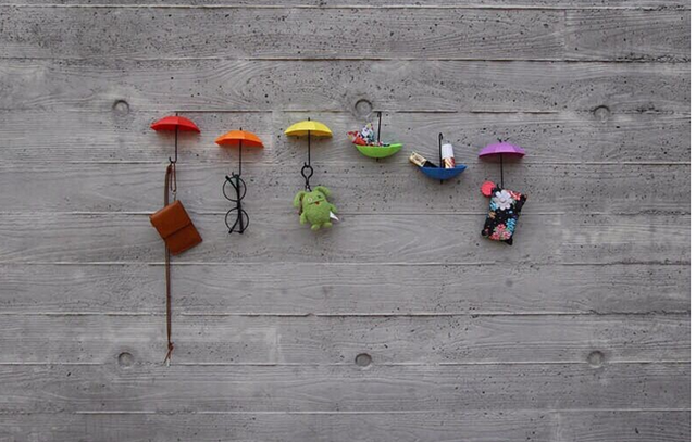 Zeegle Creative Umbrella Shaped Single Wall Hooks For Home Kitchen ...