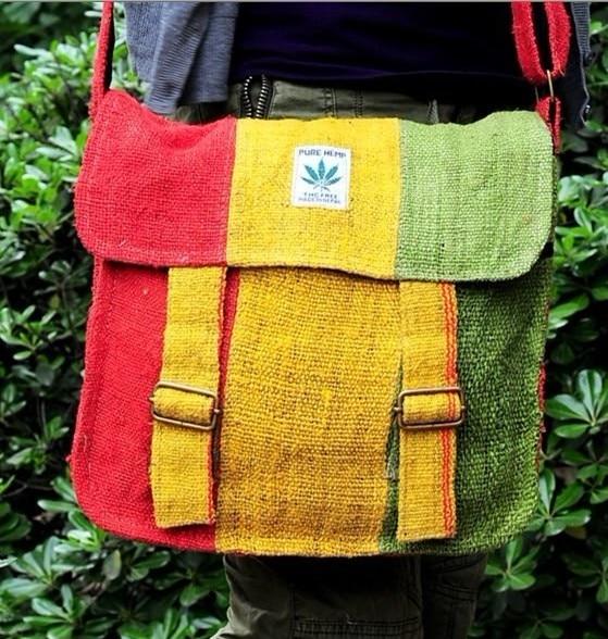 Reggae Crossbody Bags Cotton and linen Handmade Messenger Bags folk custom Bob Marley colorful shoulder City
