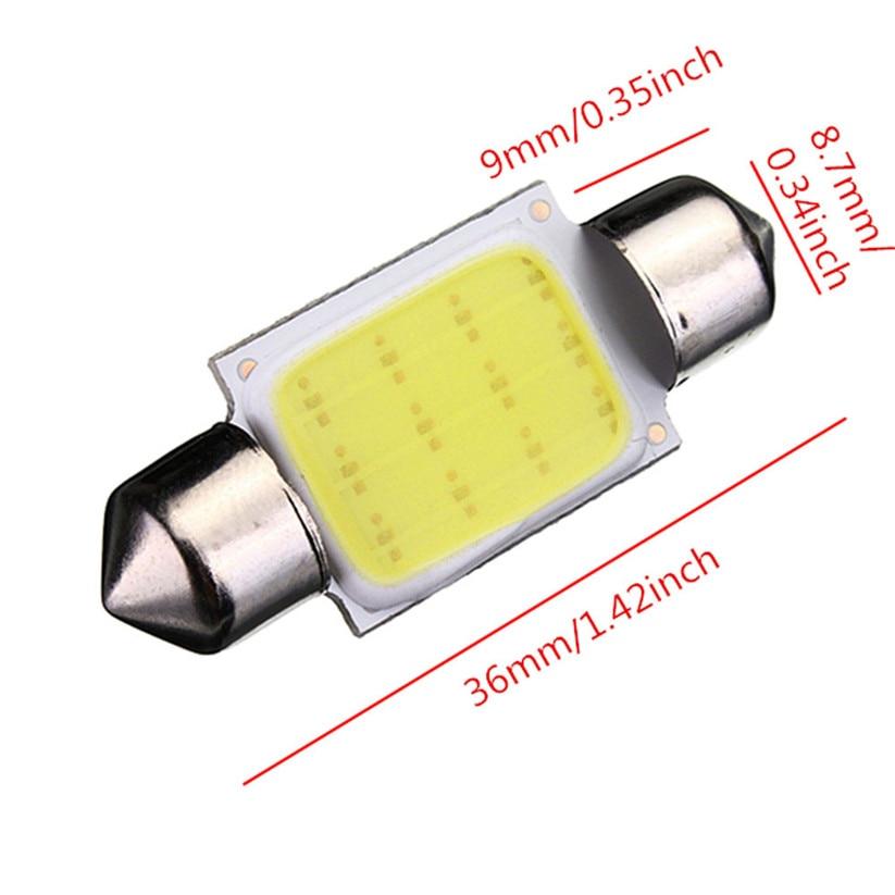 Car-styling kongyide 36mm LED Bulb High Quality Festoon COB 12 Chips DC 12V LED Car Dome td08 dropship