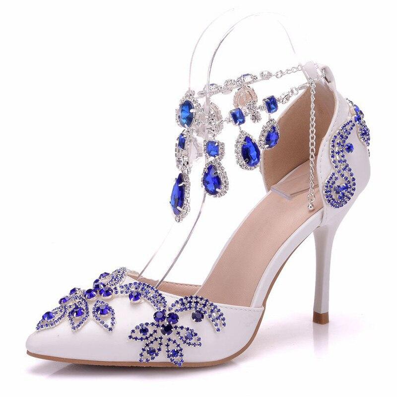 De Confortables b0122 À 34 Mariée La Mariées Chaussures Taille Xy 42 Sandales Main Mode Blanc Plus Les Femmes Pour Diamant Mariage q0gBaBx