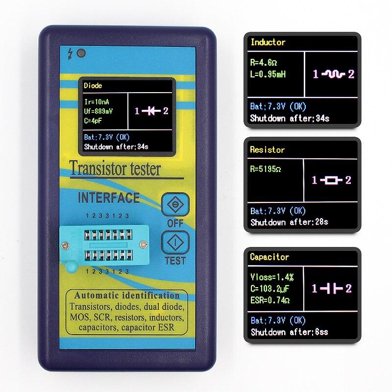 Probador de Transistor multiusos versión especial 160*128 diodo tiristor capacitancia resistencia inductancia MOSFET ESR LCR medidor