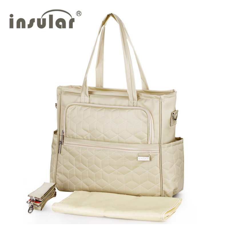 ФОТО High Quality Plaid Multifunctional Baby Stroller Diaper Bag Mother Messenger Bag Fashion Waterproof Maternity Tote Nappy Bags