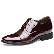 2019 New High Quality Genuine Leather Flats Men Lace-Up Black Business Dress Men Oxfords Shoes Male Formal Shoes DA014