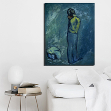 Pablo Picasso Work Blue Period Wall Art Canvas Painting Posters Prints Modern Pictures For Living Room Home Decor