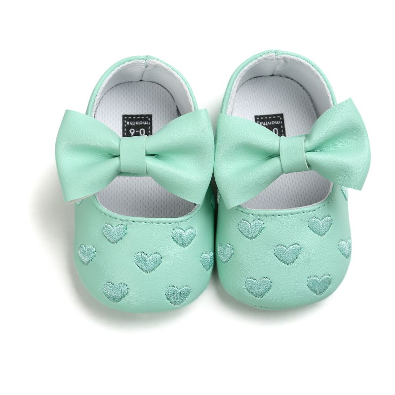 First Walkers Strict Baby Girl Shoes Lovely Bowknot Leather 4 Color Shoes Anti-slip Sneakers Soft Sole Toddler Shoes 0-12 Month Drop Ship