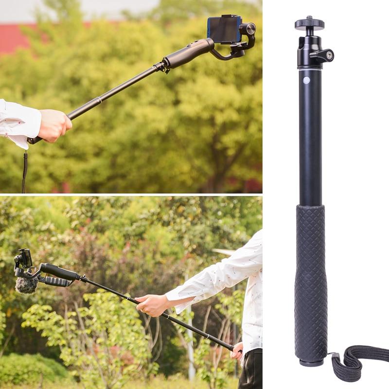 Macchina fotografica di azione di Estensione Bar Asta Telescopica Monopiede Stick per Zhiyun Z1/Liscio Q/smooth 4/Evolution/DJI Osmo 2/Feiyu Vimble 2