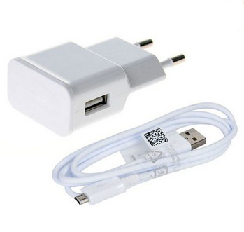 hotsale Universal 2A US EU Plug Travel Wall Charger + MICRO USB Cable For Samsung Galaxy S4 I9500 i9505 S3 I9300 Note2 N7100