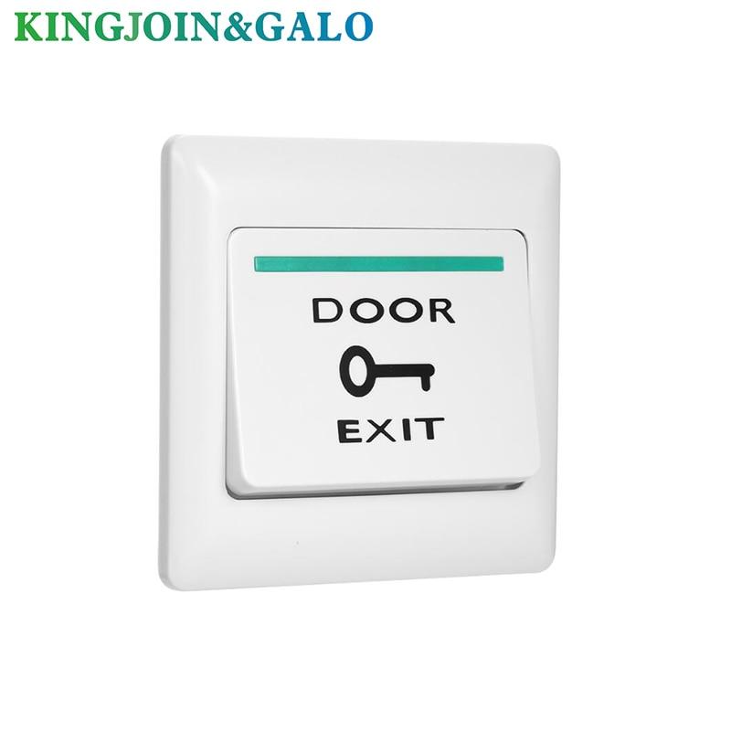 Electronic Door Lock NO COM Lock Sensor Access Control System Emergency Alarm Trigger Switch Stainless Steel Door Exit Button