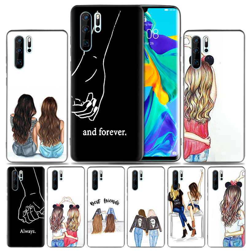 Best Friends Luxury Case For Huawei P30 P20 Pro P10 lite Honor 8X 10 10i 20i P Smart + Plus Y6 Y7 2019 Cover