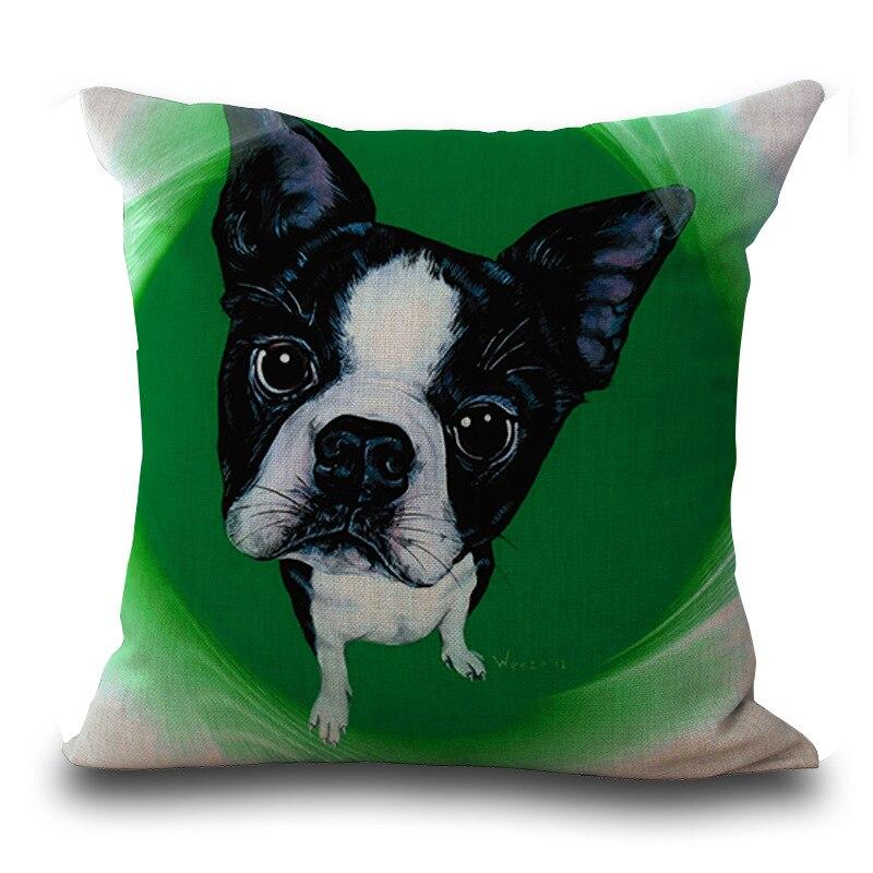 Frenchie Bulldog Cushion Cover French Animal Pillow Case Pug Pattern Design Decorative Throw Pillows Sofa 1 PCS/Lot