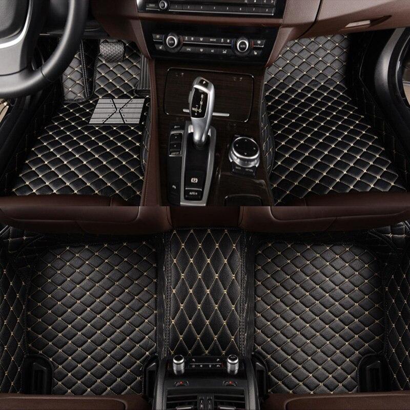 HLFNTF Personnalisé tapis de sol de voiture pour BMW F10 F11 F15 F16 F20 F25 F30 F34 E60 E70 E90 1 3 4 5 7 GT X1 X3 X4 X5 X6 Z4 voiture tapis
