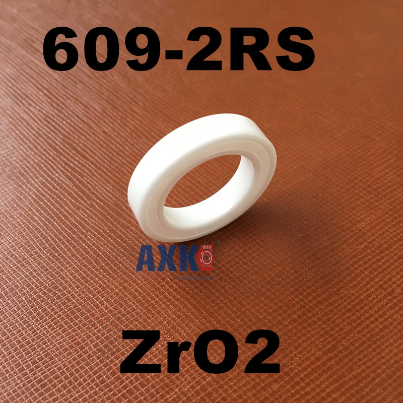 Free shipping 609-2RS full ZrO2 ceramic deep groove ball bearing 9x24x7mm 609 2RS seal 6206 2rs full zro2 ceramic deep groove ball bearing 30x62x16mm 6206 2rs