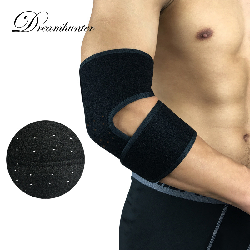 1 Pcs Adjustable Sports Elbow Support Basketball Tennis Elbow Guards Pads Breathable Arms Wrap Cover Protector Sleeve Fitness & Body Building