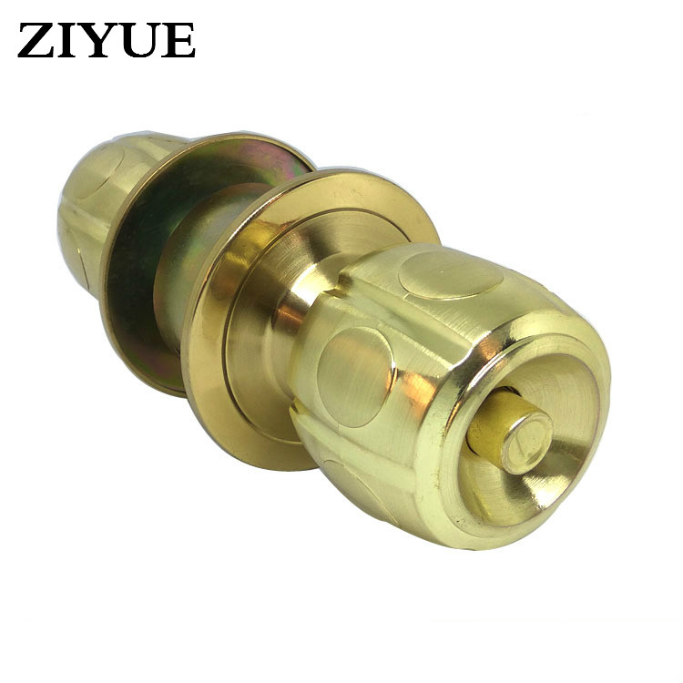 Free Shipping Gold Zinc Alloy Ball Lock Chamber Wood Door Lock Copper Lock Core Spherical Lock ceramic lock the door when indoor european ball lock hold hand lock copper core ss
