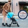 Италия Genuoka ультра портативный детская коляска 3.8 кг пространство алюминиевый сплав портативный складной детские тележки
