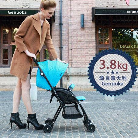 Itália Genuoka ultra portátil carrinho de bebê 3.8 kg espaço liga de alumínio portátil dobrável carrinho de bebê
