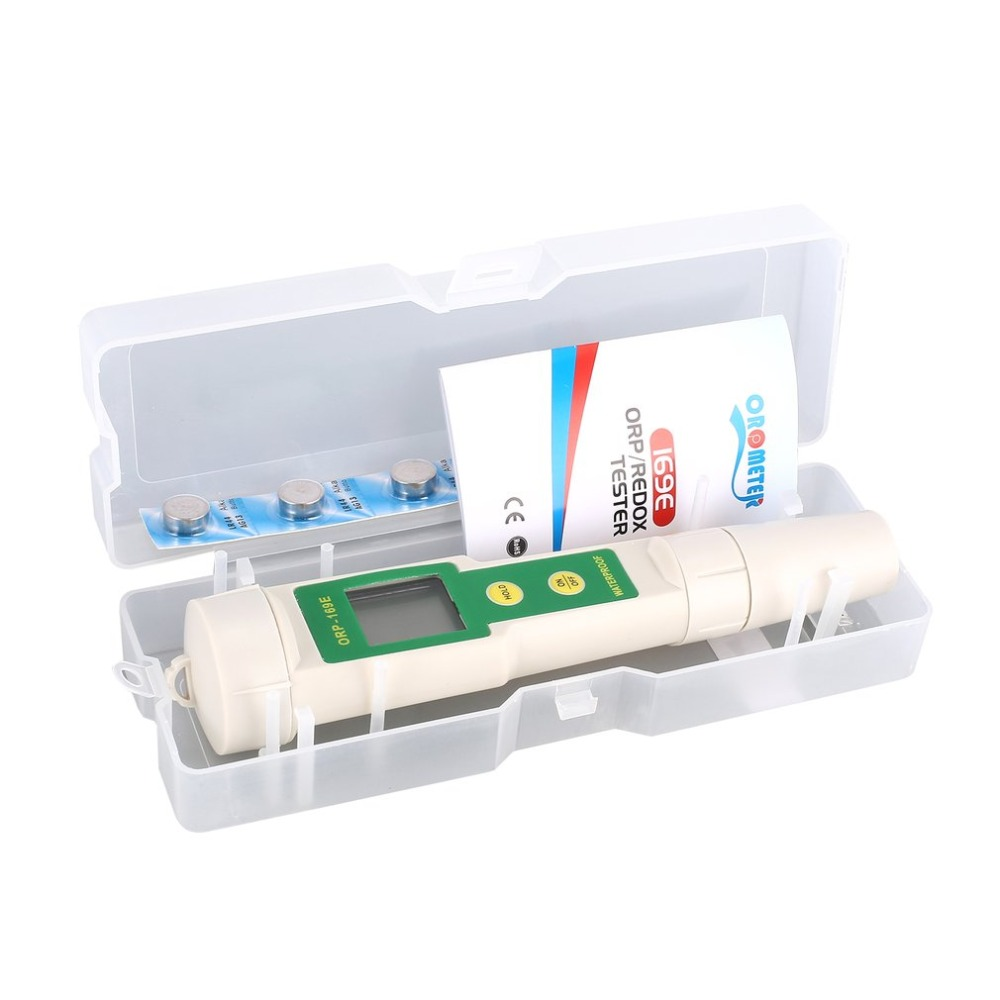 Professional 169E 1999mV ORP Detector Redox Volt Tester Pen Waterproof ORP Meter Measurement Test Tool Data