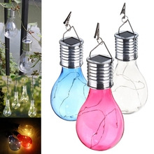 Led Solar Blubs Outdoor Camping Hanging bulbs Waterproof LED Lighting Bulb for Garden Yard wall Decoration