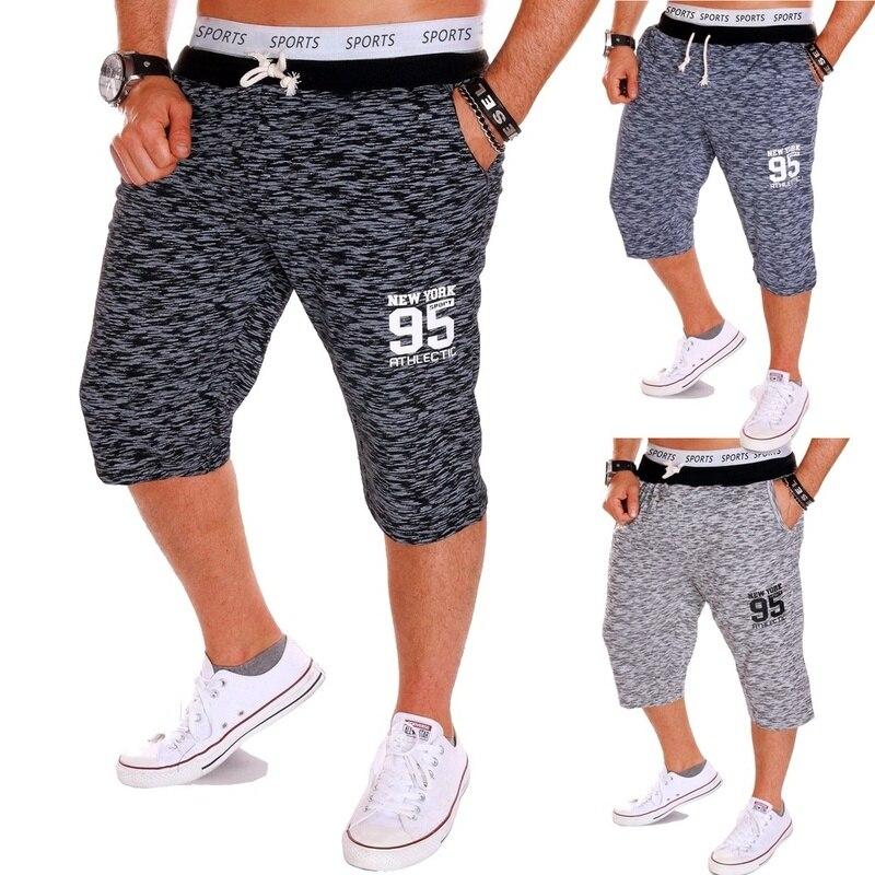 Mens Summer Sports Running GYM Training Elastic Fleece Jogging Camo Print Shorts