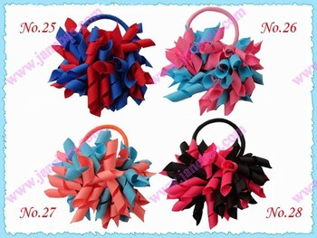 free shipping 100pcs 3'' fashion korker pony holder pony elastic mix color girl hair pony holders
