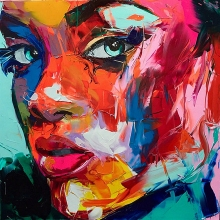 Modern Home Abstract Painting Nielly Francoise Face Artworks Decoration oil  Canvas Custom