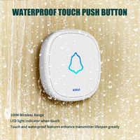 KERUI F52 sans fil tactile sonnette récepteur intelligent maison porte sécurité sonnette bouton pour système d'alarme à la maison système de sécurité 433MHz