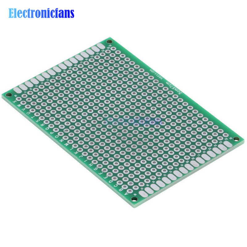 10Pcs Prototype PCB Board Protoboard Tinned Universal Breadboard Prototyping Solderless FR4 PCB Double-Sided 5x7 Cm 50x70mm FR4