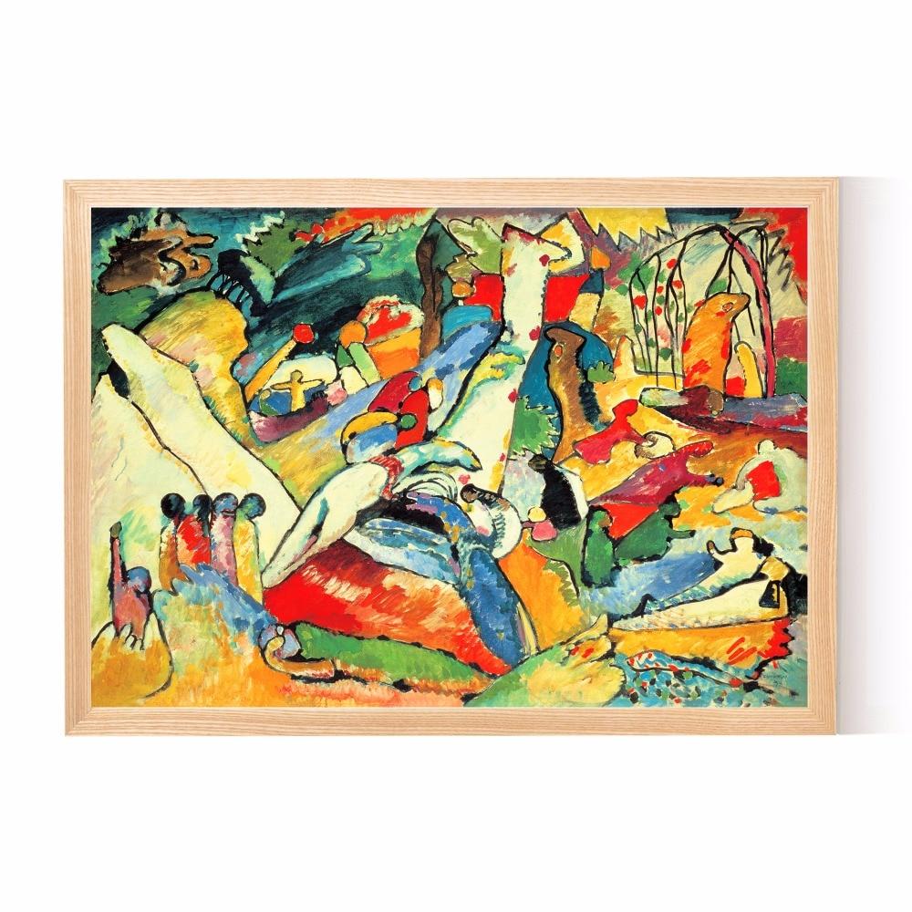 Kandinsky resumen figuras lienzo impresión del arte pintura cartel ...