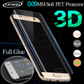 LEWEI 3D Полное Покрытие Изогнутый Экран Протектор Фильм Для Samsung Galaxy S7 Edge S6 Edge Soft PET (не закаленное Стекло)
