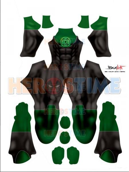 Green Lantern Costume John Stewart Green Lantern Suit Halloween Party Superhero Cosplay Costume Custom Made