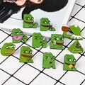 Эмалированные булавки с мультяшным Пепе-лягушкой, брошь в виде пирамиды, птицы, животного, значок, ювелирное изделие, подарок для друзей