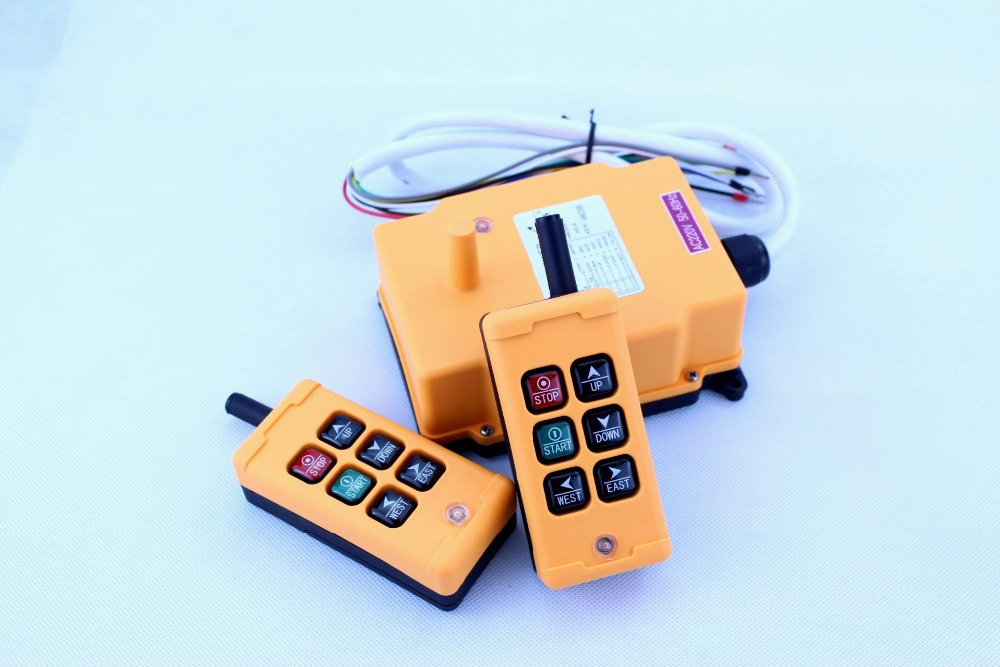 HS 6 2TX 1RX 6 keys receiver 2transmitter DC12V 24V AC36V 110V 220V 380V