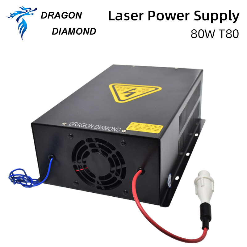 Купить с кэшбэком Dragon Diamond 80W CO2 Laser Power Supply For Laser Tube For CO2 Laser Engraving And Cutting Machine HY-T80 Series Long Warranty