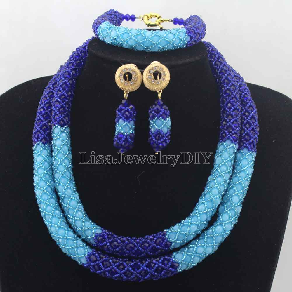 Fashion Royal  Blue Bridesmaid Crystal Costume Jewelry Set Womans Necklace Set Wedding Jewelry Party Gifts Free Shipping HD7635Fashion Royal  Blue Bridesmaid Crystal Costume Jewelry Set Womans Necklace Set Wedding Jewelry Party Gifts Free Shipping HD7635