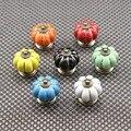40 mm 7 cores de armário botão móveis porta de armário puxadores de cerâmica