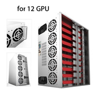 LESHP Crypto Coin Open Air Mining Frame Rig Graphics Case ATX Fit 12 GPU Ethereum ETH