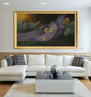 Superb Artist 100%Handmade Top Quality Impression Abstract Paul Gauguin The Dreaming Oil Painting On Canvas Dreaming Paintings
