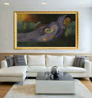 Superb Artista 100% Handmade di Qualità Superiore Impressione Astratta Paul Gauguin Pittura A Olio Su Tela di Canapa di Sognare Dreaming Dipinti
